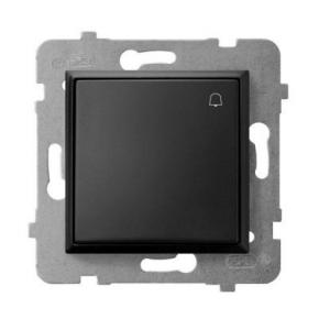 Przycisk zwierny dzwonek czarny metalik ŁP-6U/m/33 ARIA OSPEL