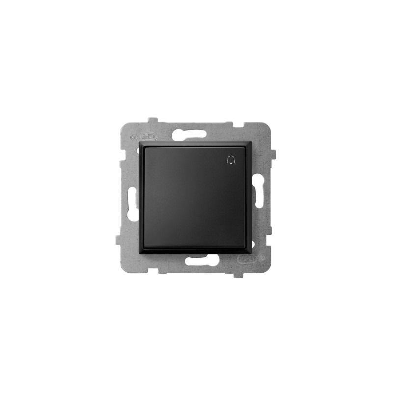 Wlaczniki-i-przyciski-dzwonkowe - przycisk zwierny dzwonek czarny metalik łp-6u/m/33 aria ospel firmy OSPEL
