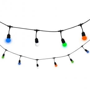 Swiecace-kule-i-girlandy - girlanda ogrodowa 5,6 m e27 10 x g45 kolorowe 36v 6w polux