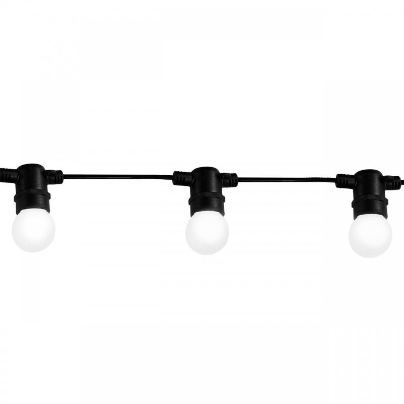Swiecace-kule-i-girlandy - girlanda oświetleniowa party m2 6,2 m+10xg45 36v e27 6w 3000k mleczny komplet polux firmy POLUX