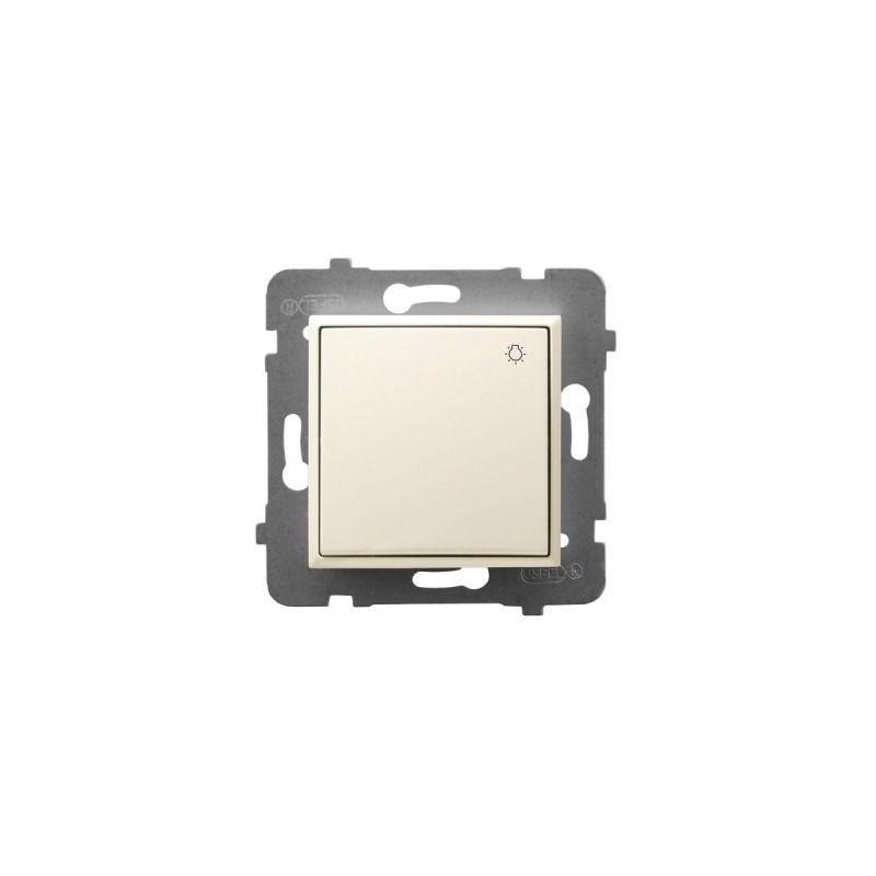 Wylaczniki-typu-swiatlo-zwierne - włącznik zwierny światło ecru łp-5u/m/27 aria ospel firmy OSPEL