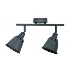 Kinkiety - oświetlenie typu reflektor spot podwójny czarny fiona 2xe14 polux