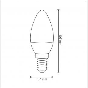 Gwint-trzonek-e14 - żarówka świeczka led smart rgb e14 4,5w ciepła polux
