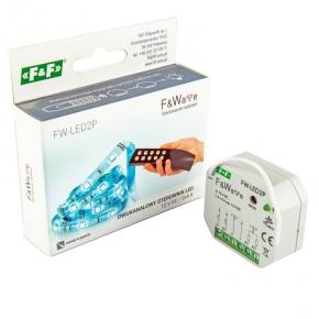 Sterowniki-i-odbiorniki - sterownik radiowy dwukanałowy led 12v dc/2x4a fw-led2p f&f