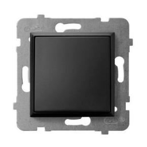 Wylaczniki-jednobiegunowe - wyłącznik jednobiegunowy czarny metalik łp-1u/m/33 aria ospel