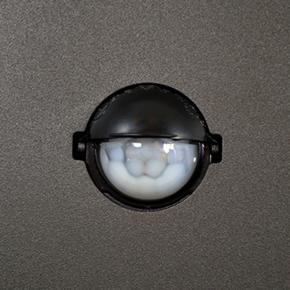 Lampy-ogrodowe-stojace - lampa ogrodowa aluminiowa new york gla505qs144gfsm 1xe27 44cm z czujnikiem polux