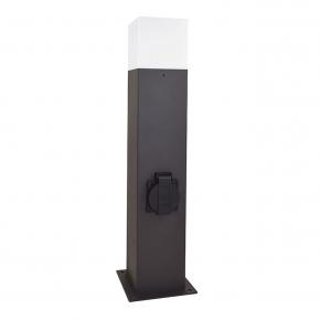 Lampy-ogrodowe-stojace - lampa ogrodowa aluminiowa new york gla505qs144gfsm 1xe27 średnia 44cm z gniazdem polux