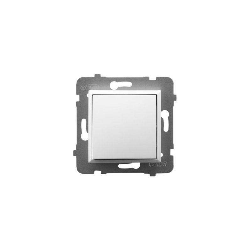 Wylaczniki-jednobiegunowe - włącznik jednobiegunowy biały łp-1u/m/00 aria ospel firmy OSPEL