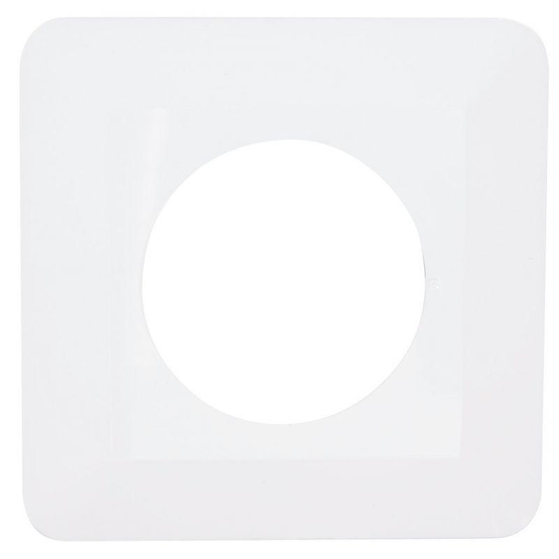 Oslony-sciany - osłona na ścianę pod kontakty i włączniki pojedyncza biała osx-910 zamel firmy ZAMEL