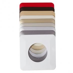 Oslony-sciany - osłona na ścianę pod kontakty i włączniki pojedyncza biała osx-910 zamel