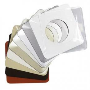 Oslony-sciany - osłona ściany pod kontakty i włączniki pojedyncza bezbarwna osx-910 zamel
