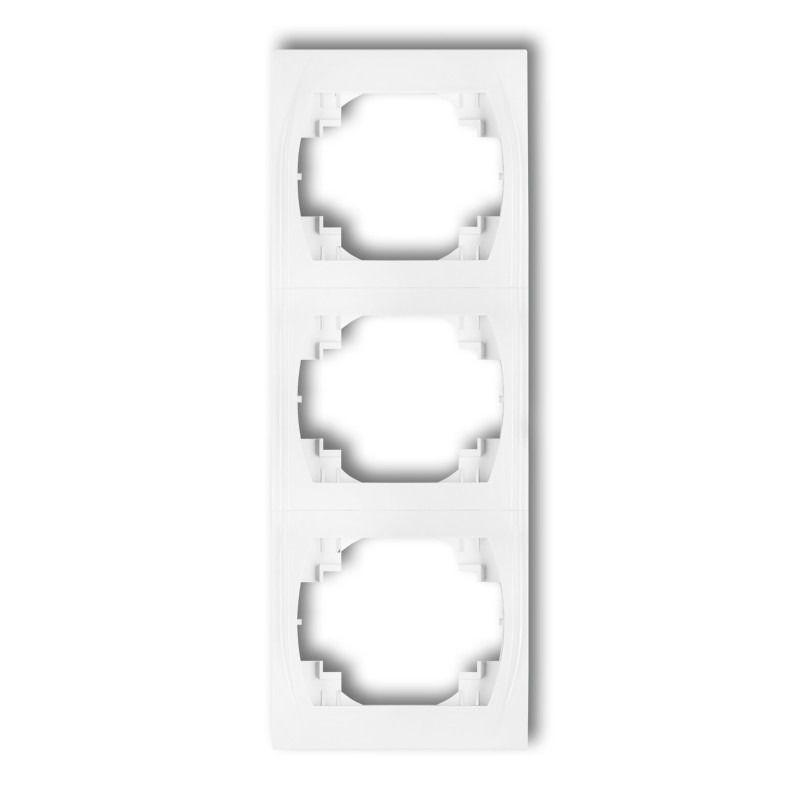 Ramki-potrojne - ramka potrójna pionowa biała lrv-3 logo karlik firmy Karlik