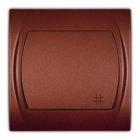 Wyłącznik krzyżowy brązowy metalik 9LWP-6 LOGO KARLIK