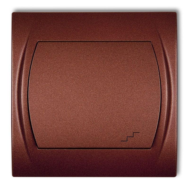 Wylaczniki-schodowe - włącznik schodowy brązowy metalik 9lwp-3 logo karlik firmy Karlik