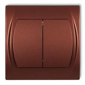 Włącznik świecznikowy brązowy metalik 9LWP-2 LOGO KARLIK