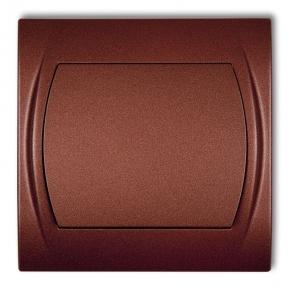 Włącznik jednobiegunowy brązowy metalik 9LWP-1 LOGO KARLIK