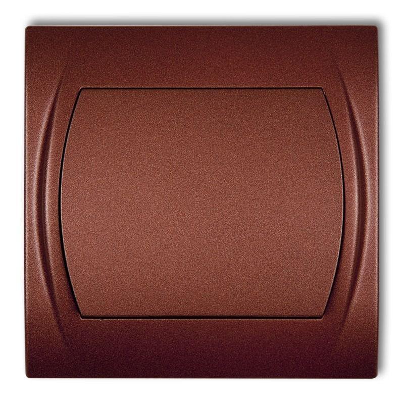 Wylaczniki-jednobiegunowe - włącznik jednobiegunowy brązowy metalik 9lwp-1 logo karlik firmy Karlik