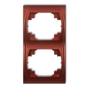Ramki-podwojne - ramka podwójna pionowa brązowy metalik 9lrv-2 logo karlik