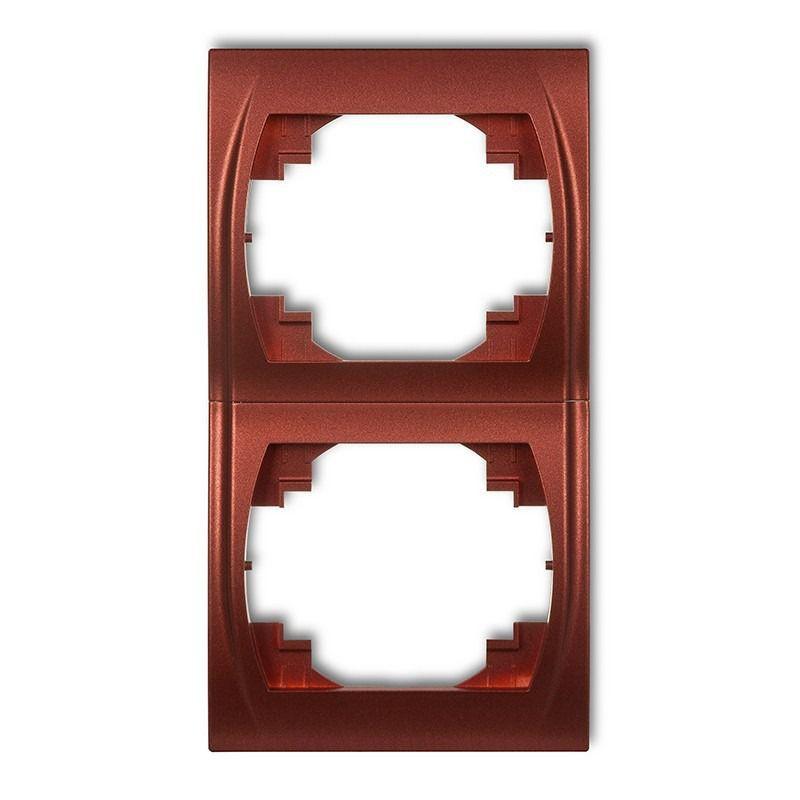 Ramki-podwojne - ramka podwójna pionowa brązowy metalik 9lrv-2 logo karlik firmy Karlik
