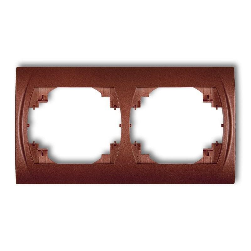 Ramki-podwojne - ramka podwójna pozioma brązowy metalik 9lrh-2 logo karlik firmy Karlik