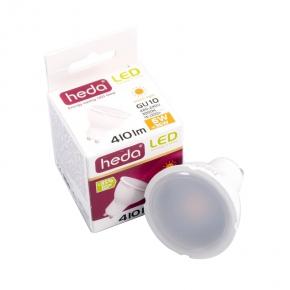 Gwint-trzonek-gu10 - żarówka halogenowa led z gwintem gu10 heda hd230l led żar. 6w-36w 410lm 120st 3000k ciepły, energy a+