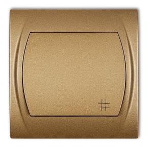 Włącznik krzyżowy złoty metalik 8LWP-6 LOGO KARLIK