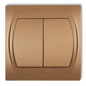 Włącznik świecznikowy złoty metalik 8LWP-2 LOGO KARLIK