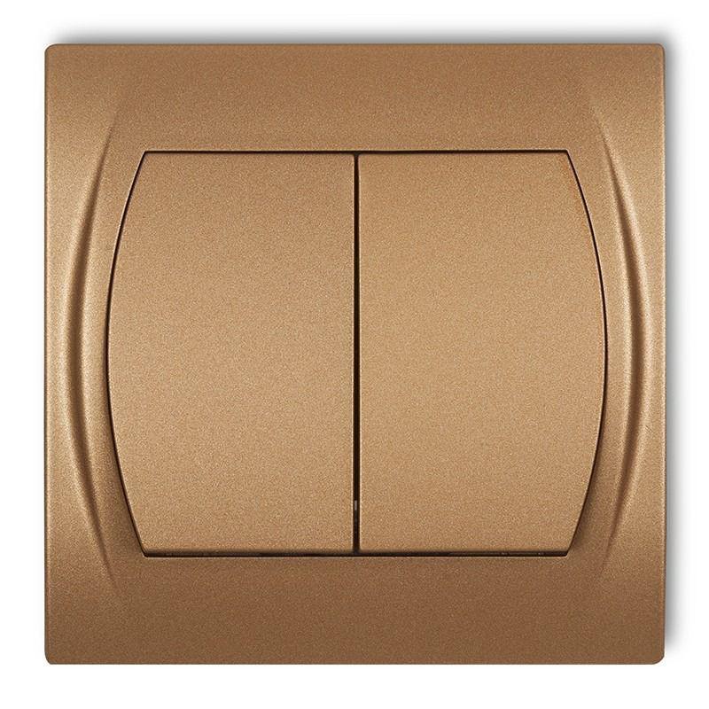 Wylaczniki-podwojne - włącznik świecznikowy złoty metalik 8lwp-2 logo karlik firmy Karlik