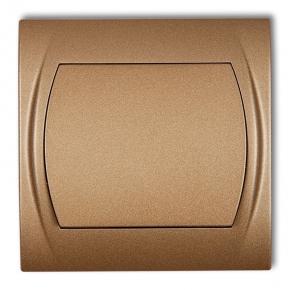 Wylaczniki-jednobiegunowe - włącznik jednobiegunowy złoty metalik 8lwp-1 logo karlik