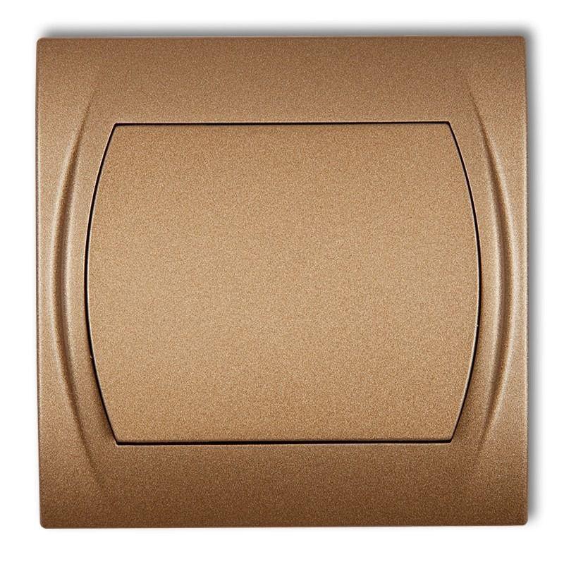 Wylaczniki-jednobiegunowe - włącznik jednobiegunowy złoty metalik 8lwp-1 logo karlik firmy Karlik