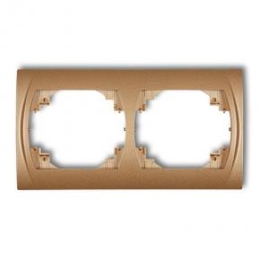 Ramki-podwojne - ramka podwójna pozioma złoty metalik 8lrh-2 logo karlik