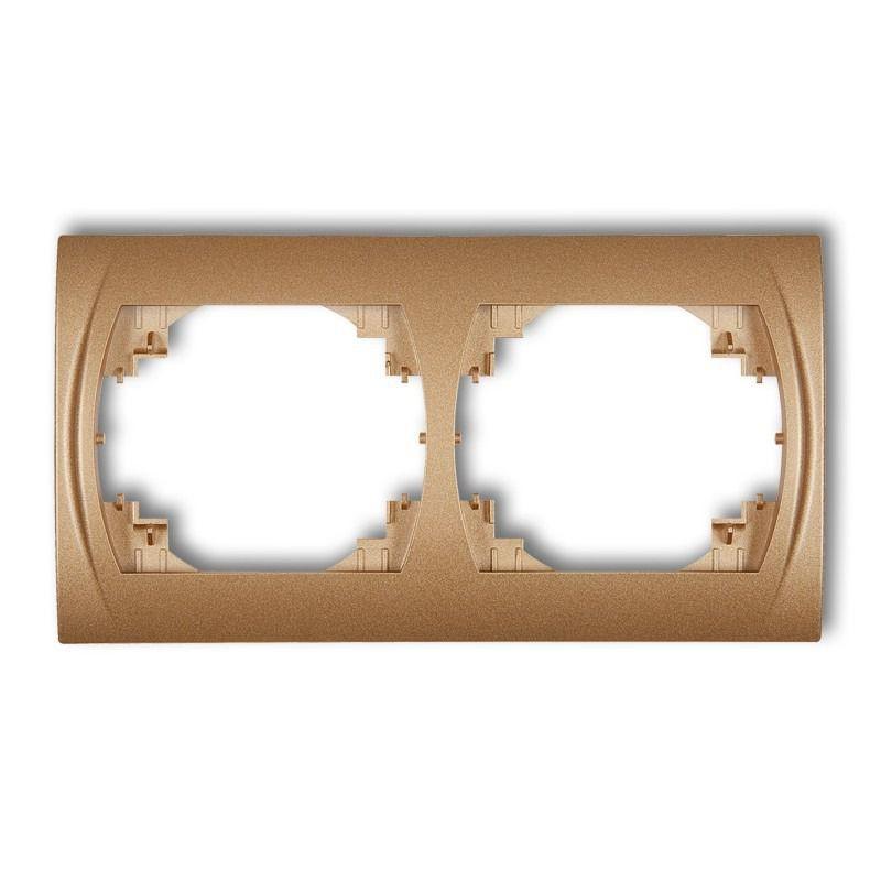 Ramki-podwojne - ramka podwójna pozioma złoty metalik 8lrh-2 logo karlik firmy Karlik