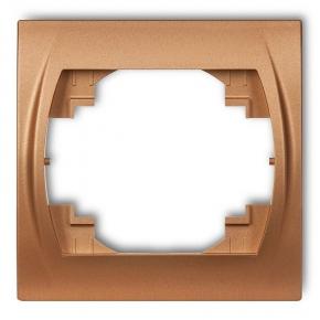 Ramki-pojedyncze - ramka pojedyncza złoty metalik 8lrh-1 logo karlik