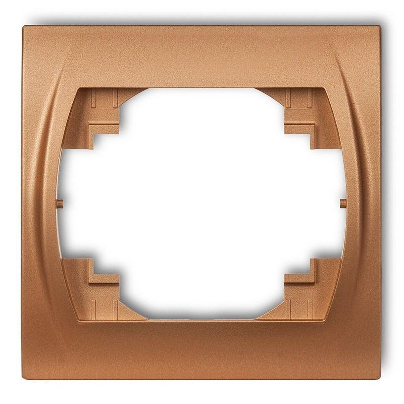 Ramki-pojedyncze - ramka pojedyncza złoty metalik 8lrh-1 logo karlik firmy Karlik
