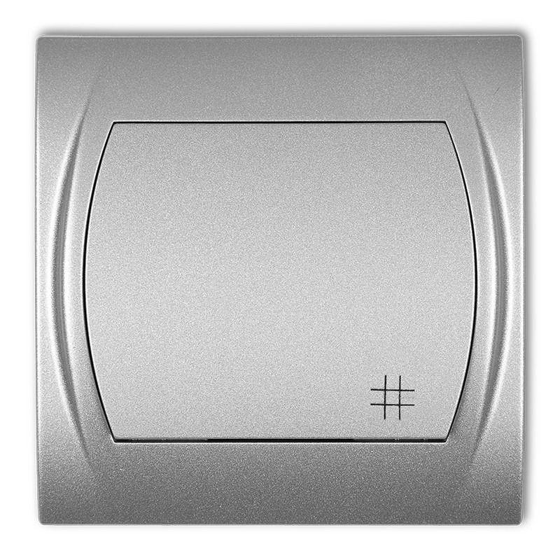 Wylaczniki-krzyzowe - włącznik krzyżowy srebrny metalik 7lwp-6 logo karlik firmy Karlik