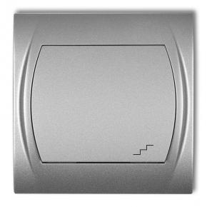 Włącznik schodowy srebrny metalik 7LWP-3 LOGO KARLIK