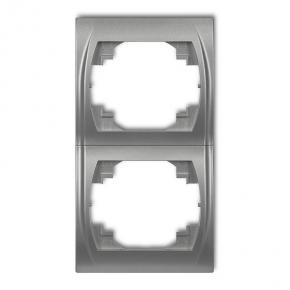 Ramki-podwojne - ramka podwójna pionowa srebrny metalik 7lrv-2 logo karlik