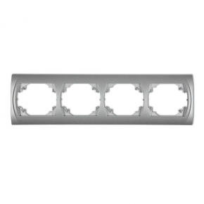 Ramki-poczworne - ramka poczwórna srebrny metalik 7lrh-4 logo karlik