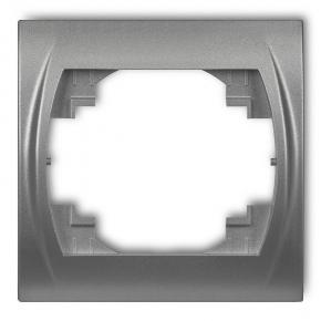 Ramka pojedyncza srebrny metalik 7LRH-1 LOGO KARLIK