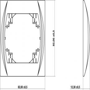 Ramki-pojedyncze - ramka pojedyncza srebrny metalik 7lrh-1 logo karlik