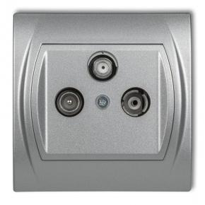 Gniazda-antenowe - gniazdo rtv-sat końcowe srebrny metalik 7lgs logo karlik