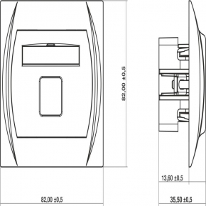 Gniazda-antenowe - gniazdo antenowe pojedyncze typu f (sat) srebrny metalik 7lgf-1 logo karlik