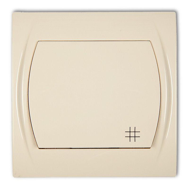 Wylaczniki-krzyzowe - włącznik krzyżowy beżowy 1lwp-6 logo karlik firmy Karlik