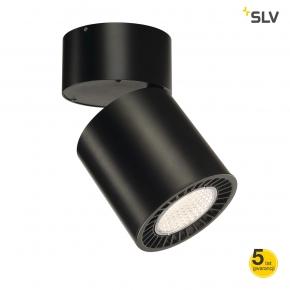 Oprawy-sufitowe - ruchoma okrągła lampa sufitowa czarna supros cl 3000k slm led 60° spotline
