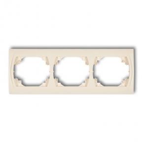 Ramki-potrojne - ramka pozioma potrójna beżowa 1lrh-3 logo karlik