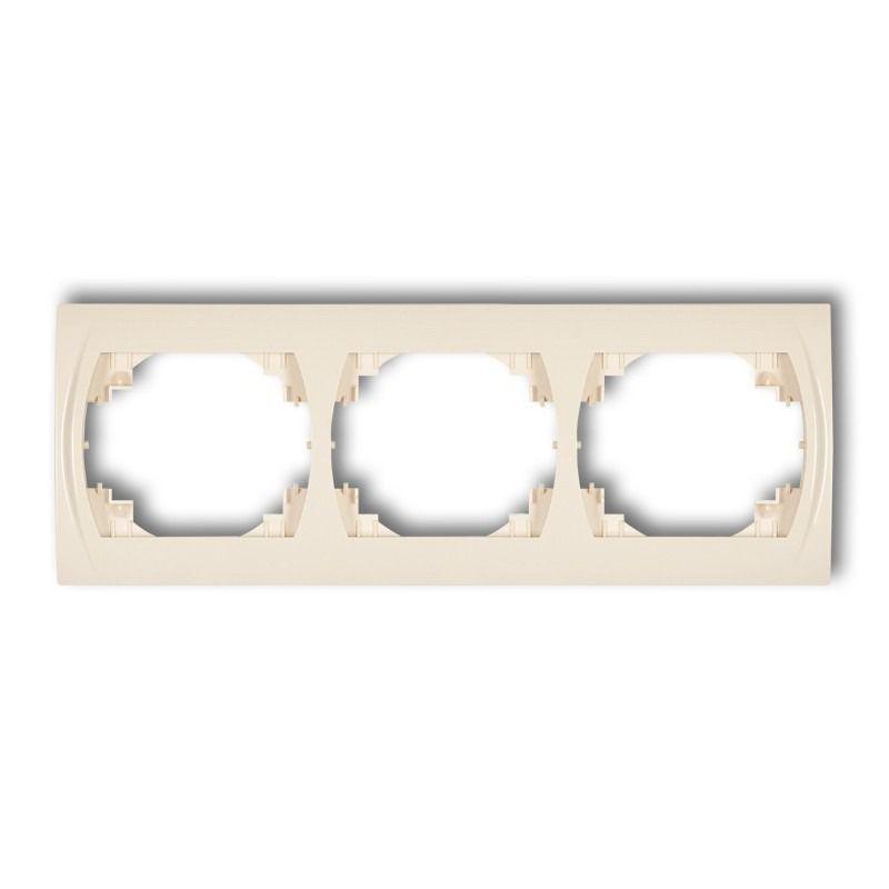 Ramki-potrojne - ramka pozioma potrójna beżowa 1lrh-3 logo karlik firmy Karlik