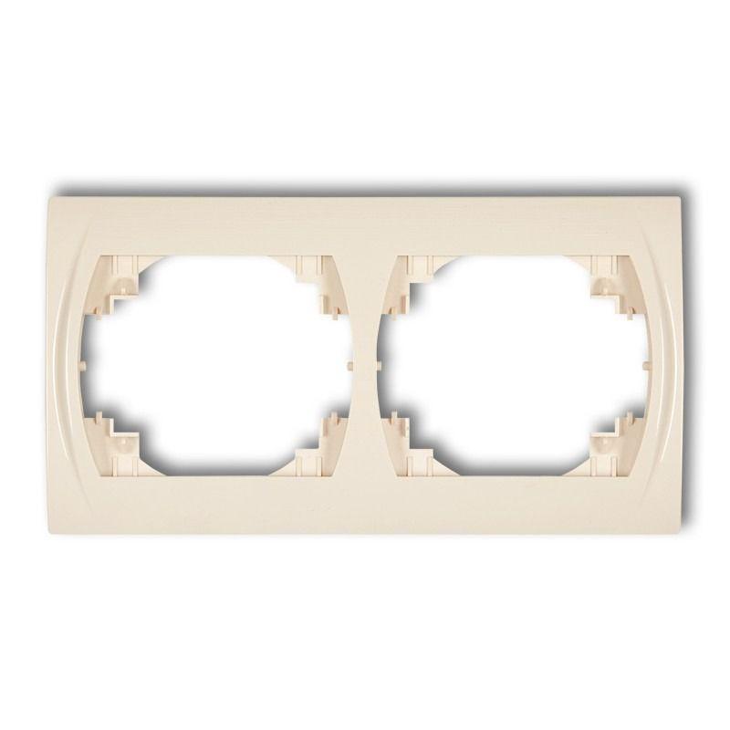 Ramki-podwojne - ramka podwójna pozioma beżowa 1lrh-2 logo karlik firmy Karlik