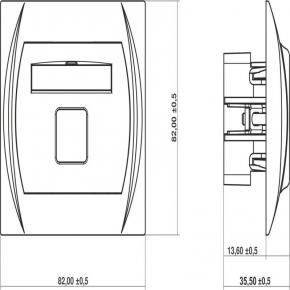 Gniazda-antenowe - gniazdo antenowe pojedyncze typu f (sat) niklowane beżowe 1lgf-1 logo karlik