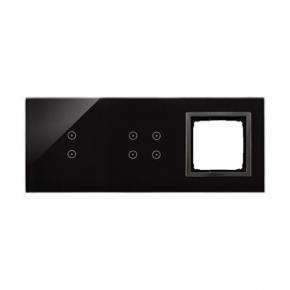 Panele-dotykowe - panel dotykowy potrójny szklany z 1 otworem na osprzęt zastygła lawa dstr3340/73 simon 54 touch kontakt simon