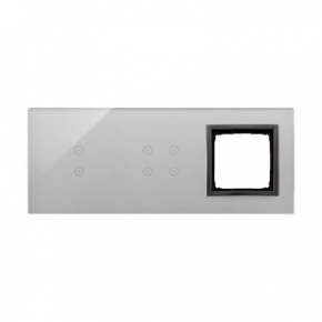 Panele-dotykowe - panel dotykowy 2 pola pionowe+4 pola dotykowe+1 otwór na osprzęt burzowa chmura dstr3340/72 simon 54 touch kontakt simon